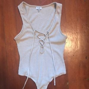 Sexy Bodysuit with Lace-Up Front